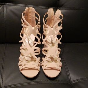 Shoes - Blush caged heels